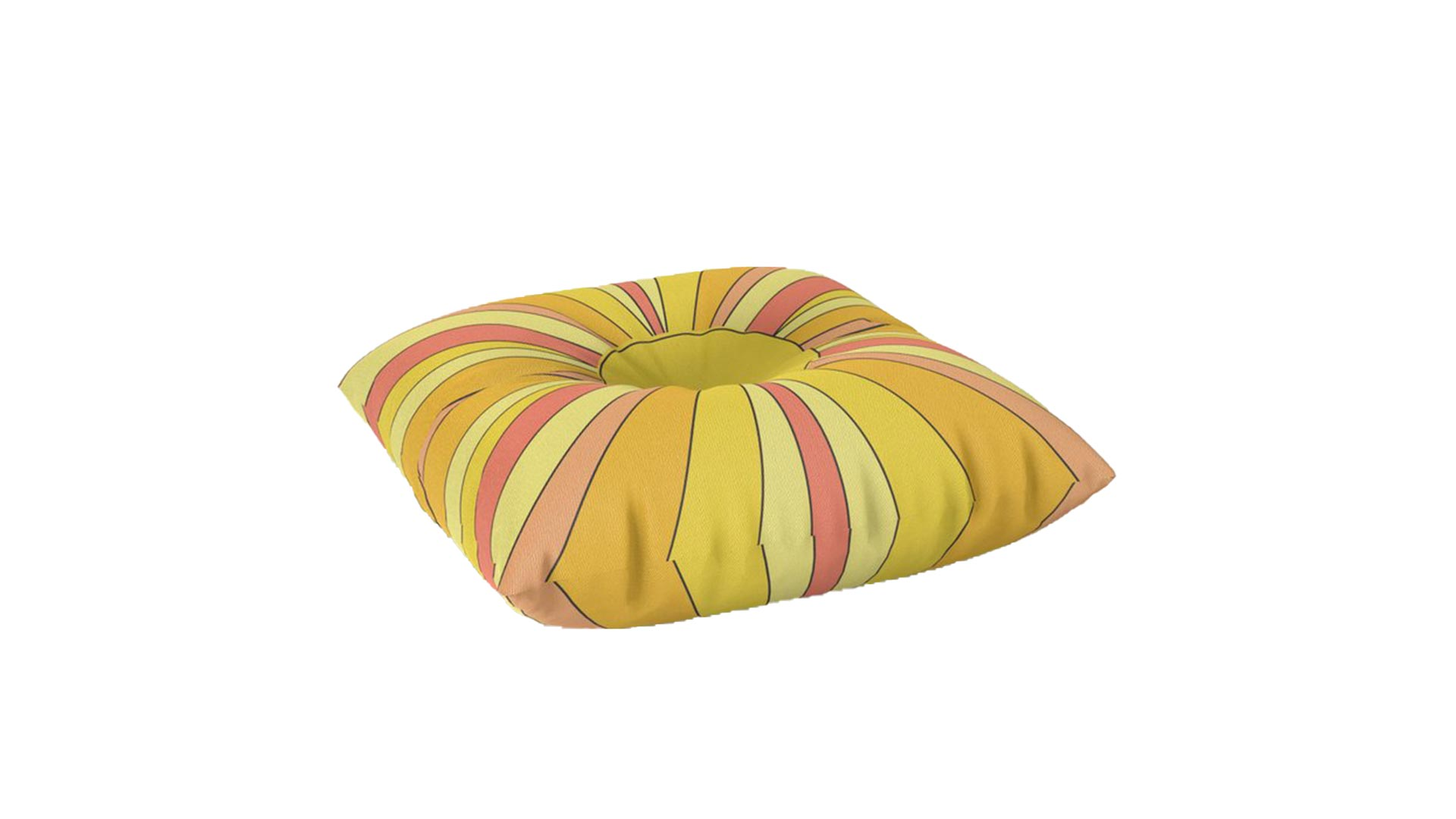 Sun Rays Floor Pillow
