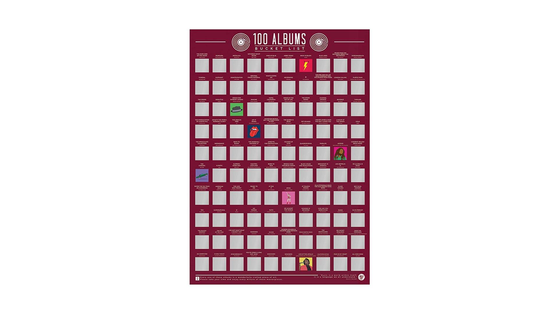 Album Scratch-Off Poster