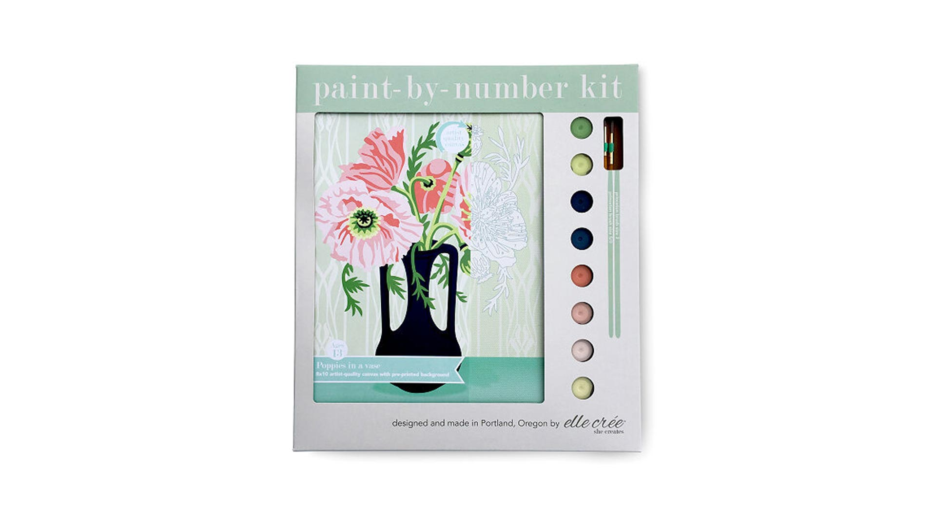 Floral Paint-by-Number Kit