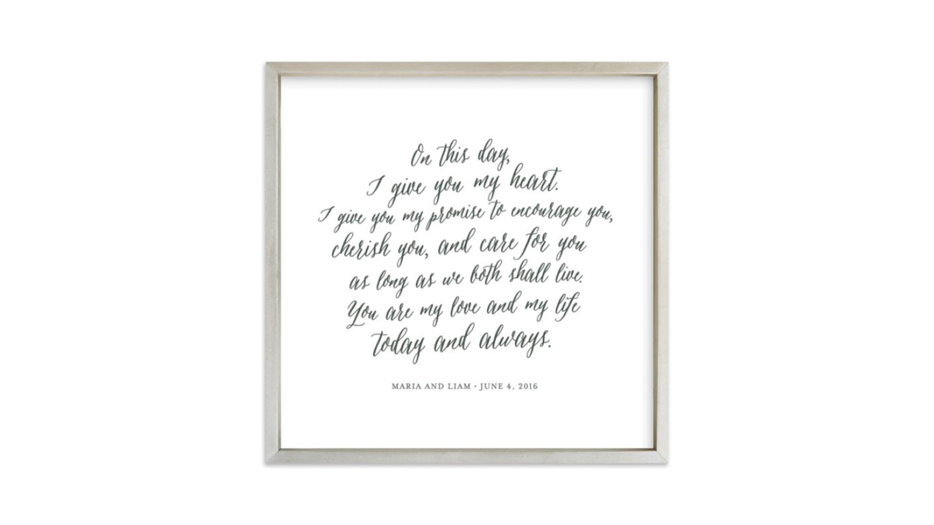 Vows Art Print