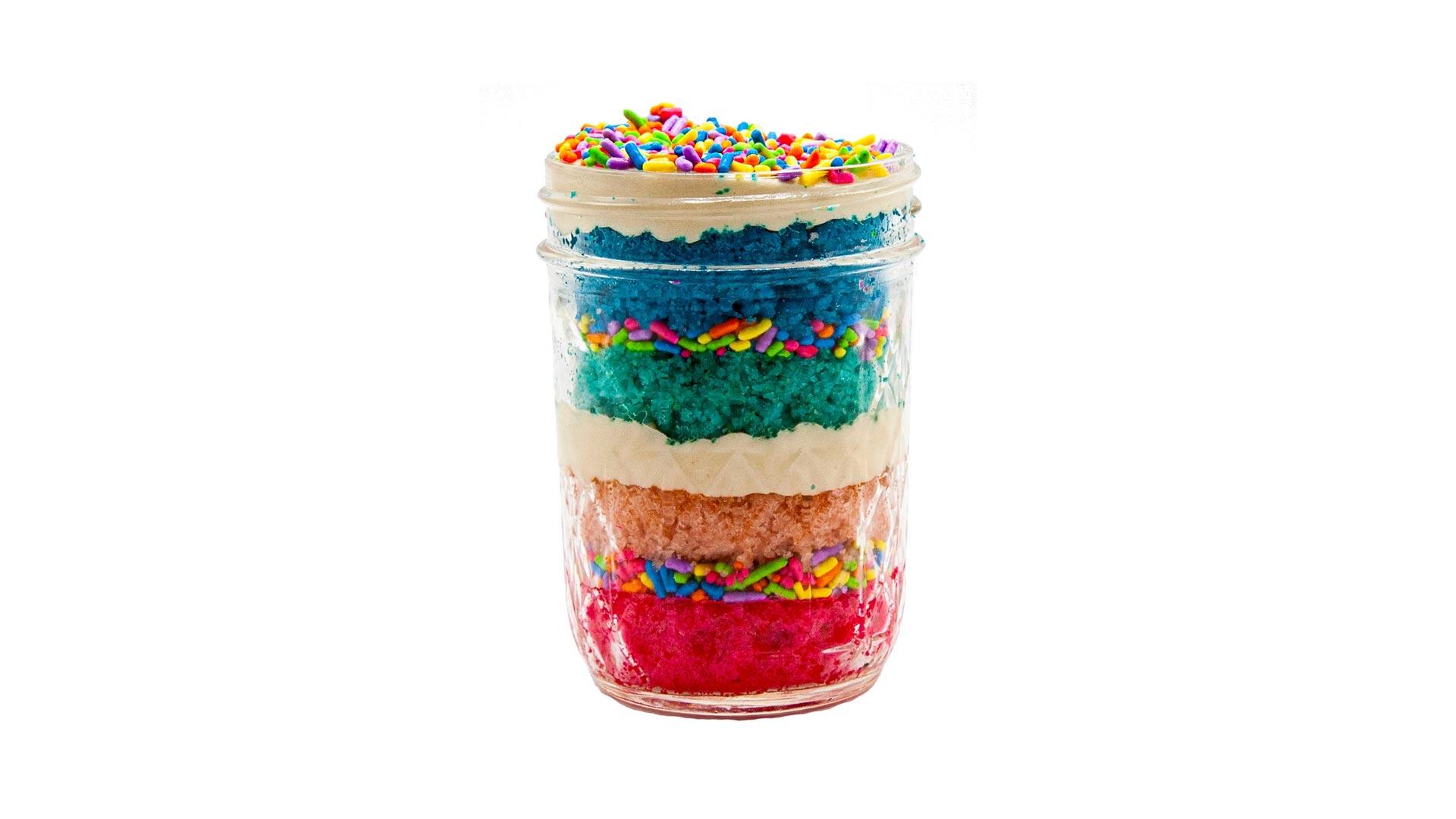Rainbow Cake Jars